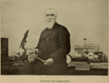Hiram Maxim in his Laboratory - Cassier's 1895-04.png