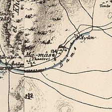 Historische Kartenserie für das Gebiet von Khirbat al-Shuna (1870er Jahre) .jpg