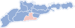 Location of Hlibokas rajons