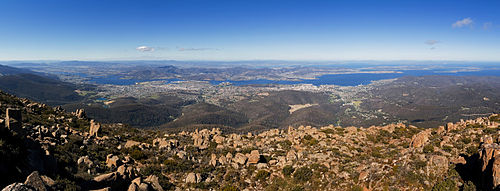 Hobart from Mount Wellington Panorama 1