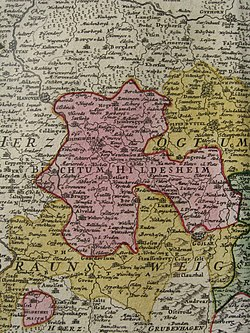 Territory of Hildesheim in the 18th century