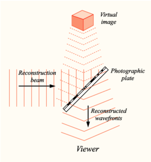 Implicate and explicate order - In a holographic reconstruction, each region of a photographic plate contains the whole image