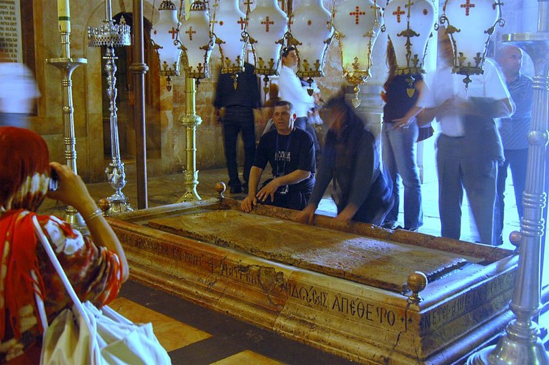 Holy sepulchre stone of the anoiting