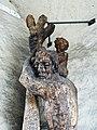 Holz Skulptur Christophorus, 1950, Schnetztor, Wil, St. Gallen. Von Urban Blank, *1922, Bildhauer 2.jpg