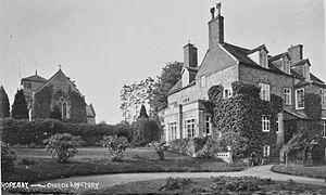 Hopesay - Image: Hopesay church & rectory (1294443)