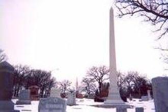 Hormel - The Hormel obelisk in Austin's Oakwood Cemetery.