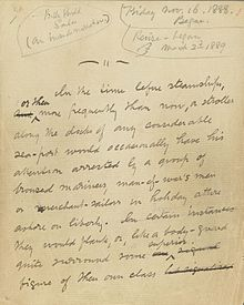 Billy Budd manuscript, first page