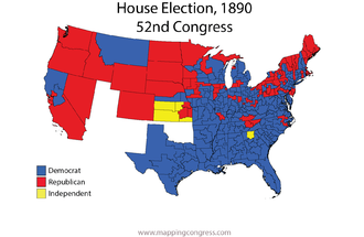 United States House of Representatives elections, 1890 - Image: House 052Election Map