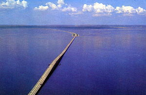Howard Frankland Bridge - The original span looking west toward St. Petersburg