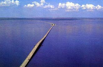 Howard Frankland Bridge - The original span looking west toward St. Petersburg