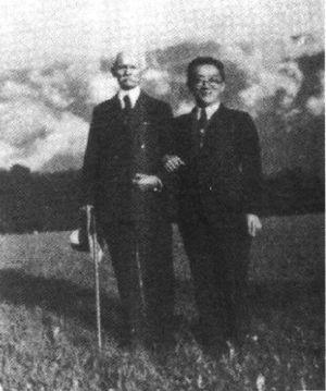 John Dewey - Photograph of John Dewey and Hu Shih, from 1938–1942.