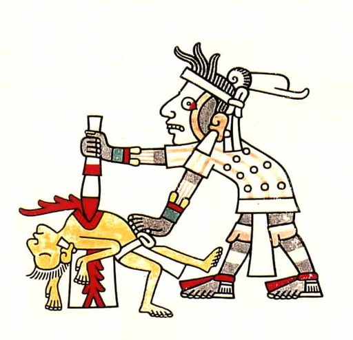 Human sacrifice (Codex Laud, f.8)