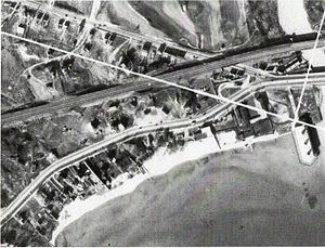 The Palace Pier - A 1936 aerial photograph shows the only portion of the pier constructed