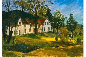 Margaret Lefranc - Hunter House, 1936. Oil on canvas by Margaret Lefranc.
