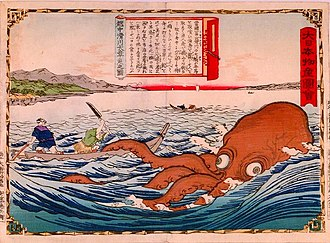 Octopus as food - Fishermen hunting octopus