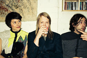 Husky Rescue - Husky Rescue at El Camino Helsinki studios in March 2011. From left to right: Johanna Kalén, Marko Nyberg, Antony Bentley