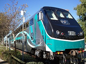 Metrolink (California) - Metrolink Hyundai Rotem consist, Virginia Colony, Moorpark, California