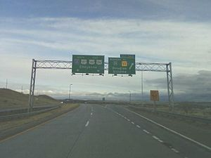 Wyoming Highway 59 - Interstate 25 (Exit 140) I-25 BUS to WYO 59
