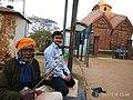 IMG 20180103 Elderly Baul singer in front of Jor bangla with Shourjo.jpg