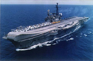 INS Viraat (R22) underway with a large compliment of helicopters and Sea Harrier aircraft.jpg