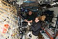 ISS-48 Jeff Williams and Kate Rubins train inside the Destiny lab.jpg