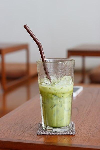 File:Iced green tea latte.jpg