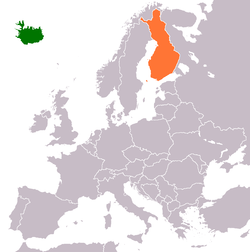 FinlandIceland Relations Wikipedia - Where is finland