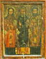 Icon - The Three Hierarchs, from Wood Icon Collection, no. 434, Maramureş Museum in Sighet, Romania.tif