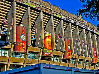 2010 UEFA Champions League Final - The front side of Bernabéu during the final.
