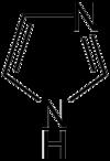 Structuurformule van Imidazool