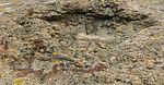 Impact in reinforced concrete german bunker Pointe du Hoc Normandy Calvados.jpg
