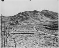 In the background, a Roman Catholic cathedral on a hill in Nagasaki, ca. 1945 - NARA - 519385.tif
