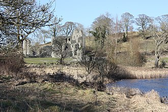 River Quoile - River Quoile and Inch Abbey, March 2010