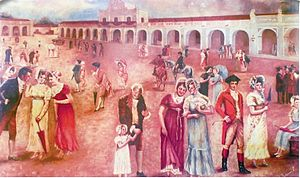 Criollo people - Guatemalan Criollos rejoice upon learning about the declaration of independence from Spain on September 15, 1821.