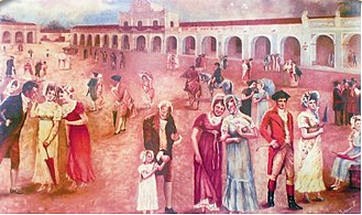 Guatemala - Criollos rejoice upon learning about the declaration of independence from Spain on 15 September 1821.