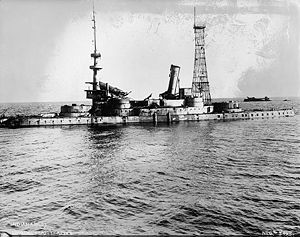 USS Indiana (BB-1) - Image: Indiana bombing 1920