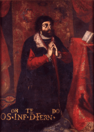 Ferdinand, Duke of Viseu - Depiction of Infante Ferdinand in a 1678 portrait in the Convent of Beja