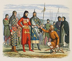 Inspection of Gaveston's head by the earls of Lancaster, Hereford, and Arundel.jpg
