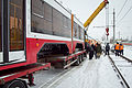 Installing the tram on rails in Volgograd 001.jpg