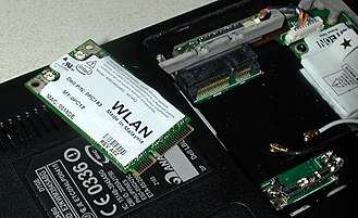 PCI Express - A WLAN PCI Express Mini Card and its connector