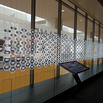 National Inventors Hall of Fame - Image: Interactive kiosk for inventor information 1, National Inventors Hall of Fame USPTO building in Alexandria, Virginia