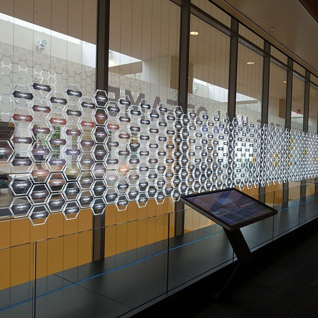 Interactive kiosk for inventor information - 1, National Inventors Hall of Fame - USPTO building in Alexandria, Virginia