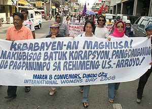 English: International Women's Day 2008 in Dav...