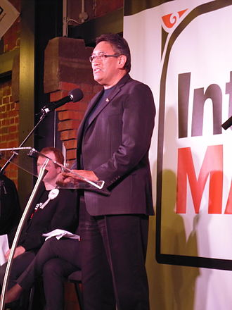Mana Movement - Harawira speaks at a rally of the Internet Party and Mana Movement