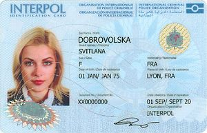 Interpol - Interpol ID card (front)