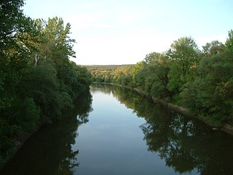 Szob - Image: Ipoy River from Szob railway bridge