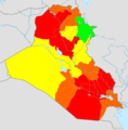 Iraq total fertility rate by region 2006.png