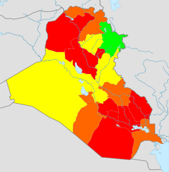 Demographics of Iraq - Image: Iraq total fertility rate by region 2006