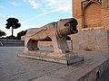 Isfahan - Khajoo Bridge ^ Stony Lion - panoramio.jpg