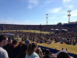 Harder Stadium - Over 20,000 were in attendance for a memorial service for the 2014 Isla Vista Killings.